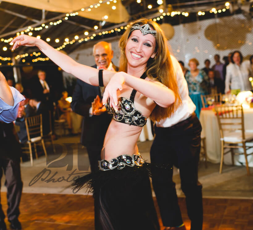 Belly dance performance at an event